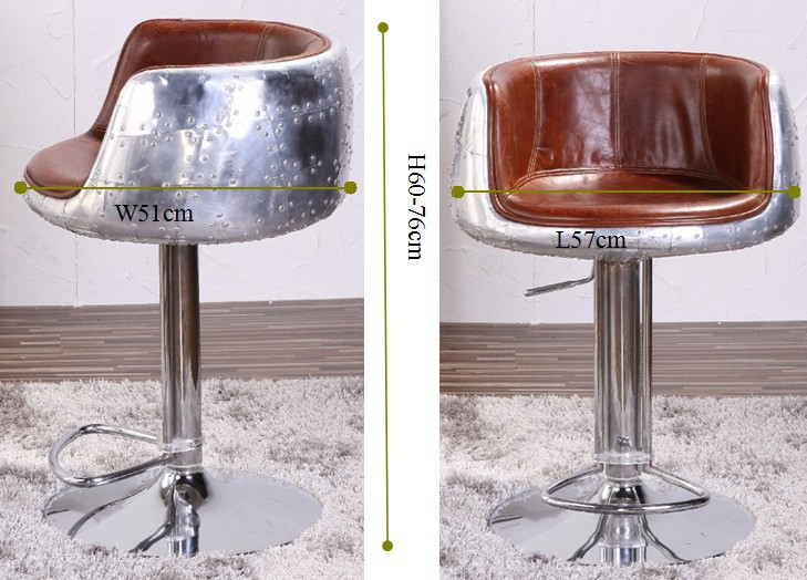 Vintage Leather Aluminium Aviator Bar Stool Buy Aviator