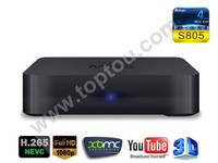 MXQ AMLogic S805 quad core Cortex-A5 1.5Ghz Mali450 H.265 Android4.4 KitKat Android TV Box