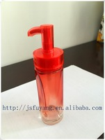 Lotion Jar, Customized Cosmetic Colorful Glass Bottle, Glass Spray Bottle with Pump, Cap