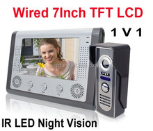 7 inch wired IR LED HD night vision peephole door viewer
