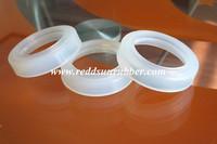 Molded FDA silicone rubber seals