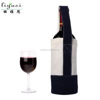 Custom Printed Red Wine Canvas Gift Bag,New High Quality Cotton Canvas Shopping Tote Bag,Fashion Cotton Canvas Business Handbag