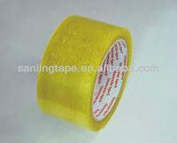 yellowish BOPP clear packaging adhesive tape