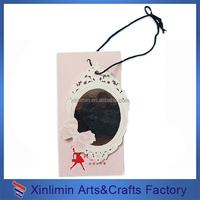 cheap custom printed girl hang tag