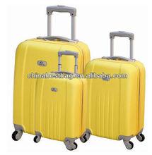 """3 piezas spinner conjunto maleta hardside equipaje 20"""" 24"""" 28"""" amarillo set de viaje maleta trolley duro"""
