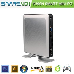best quality green linux mini pc server K390N aluminum shell new design cost saving low power consumption