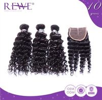 Portable And Endurable Deep Wave Human Bulk Indian Hair Companies From India Extensions