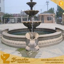 large size 3 tier white marble outdoor water fountain (FTN-B003)