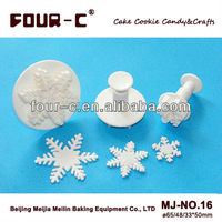 Excellent snowflake sugarcraft plunger cutters,christmas theme cutters