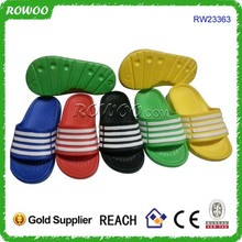 Chinese one dollar eva injection bathroom and bedroom slippers bed slippers