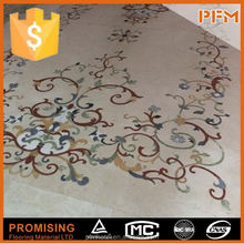 Factory Supply Pure black and gold marble flooring