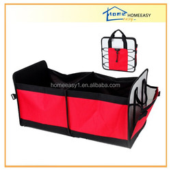 red nonwoven car trunk organizer with handle CW819