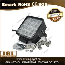 Factory direct offfer 48w led work light lamp DC 12V 24V auto led work light for jeep truck led tractor work light