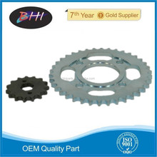 CG125 motorcycle chain and sprocket kits motorcycle accessory sprocket and chain small