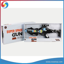 newest super space gun 8 pc led spin flash laser gun toy