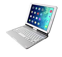 9.7inch hottes rotating ultra-flat bluetooth wireless ergonomic keyboard for ipad