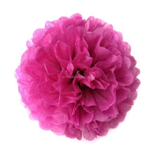 Fuchia And Sky Blue Hanging Tissue Paper PomPom Decoration Balls For Wedding Birthday Party