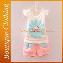 ทารกหวานสั้นในช่วงฤดูร้อนสวมใส่เด็กสวมใส่ในช่วงฤดูร้อนดอกไม้พิมพ์แบรนด์2015sfubs- 026