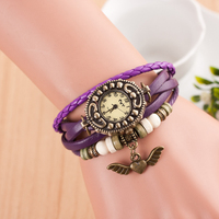 Lowest Price High Quality Cheap Wood Hand Pendent Pure Brass Circle Wrist Watch