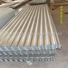 chapa de aluminio de zinc corrugado para techo