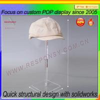 custom size clear acrylic hat box display holder