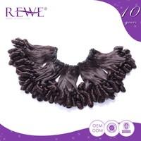 100% Warranty No Shedding Unprocessed Wholesale Virgin Brazilian Hair Weave Curled Extension