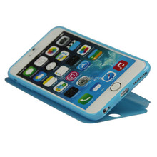 Smartphone Soft Touch Custom Stand PU Wallet Case For IPhone 6/ Plus Supplier