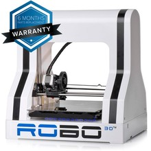 ABS+PLA Filament ROBO 3D Printer for home, office and school