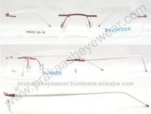 Latest popular light weight Rimless optical frames