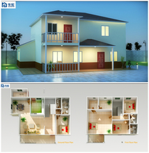 prefab house kits construction economic flat roof modular house modern prefabricated designed prefab kit house
