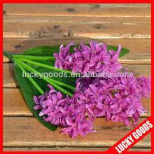 deacoration purple Hyacinth artificial bush flower