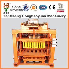 Factory directly !! hollow block making& elecctric paving bricks machines QTJ4-40 for hot sale from Good Manufacturer