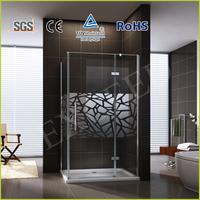 Rectangle frameless hinge shower enclosure EX-423