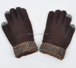 Pink Knitting 2 fingers screen gloves for girls/ladies/women