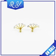 colorful surgical steel surface zircon piercing jewelry wholesale