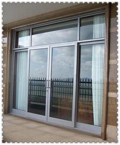 Utilizado exteriores franc s de vidrio comercial puertas for Puertas de entrada con vidrio