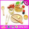 2015 hot sale wooden kitchen cutting toy, popular wooden kitchen toy set, juguete de corte de verduras W10B145