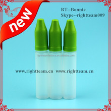 10ml plastic bottle for e-lquids,ejuice with child proof cap with wide mouth