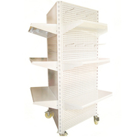 New design removable supermarket metal rack/Display Racking with wheels
