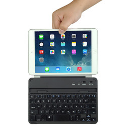 magnetic clip wireless bluetooth 3.0 aluminum cover keyboard for apple ipad mini