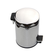 Trash Can Round Shape 3L-40L Stainless Steel Foot Pedal Trash Can trash bin kitchen waste bins