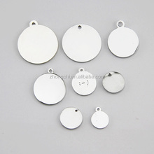 2015 engrave round metal logo label,stamp logo metal tags jewelry accessories