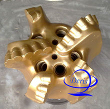 API kingdream 6 1/2'' pdc drill bit, 5 baldes for oil field, natural gas, mining drilling