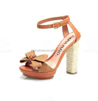 Factory wholesale summer new female sandals contracted joker color wedge heels fish mouth shoes