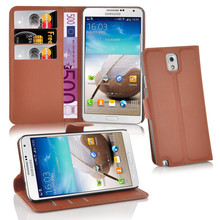 100% Genuine Leather Wallet With Card Slots Stand Phone Case Cove For Samsung Galaxy Note 3