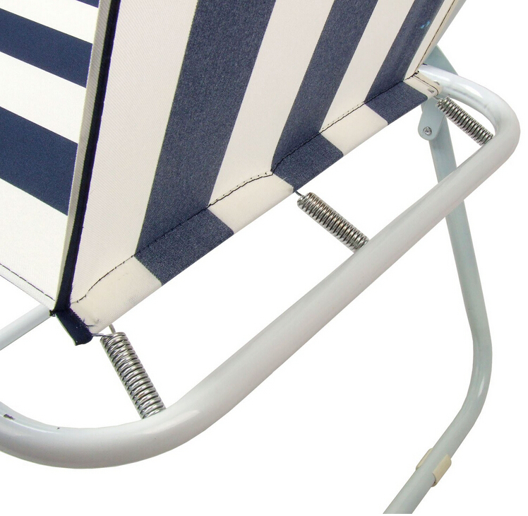 Metal Steel Tube Plastic Hand Beauty Folding Beach Sling Chair