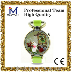 2015 wholesale luxury fashion women watch leather strip wrist watch mini world 007