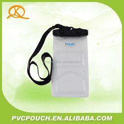 2015 China manufacture new products clear and transparent Mobile Phone PVC Waterproof Bag, waterproof case bag
