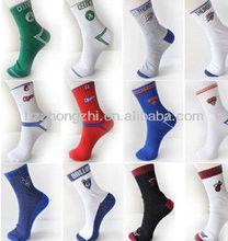 de algodón deportivo de baloncesto de la tripulación calcetines