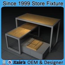 commercial display table / wooden retail clothing display table